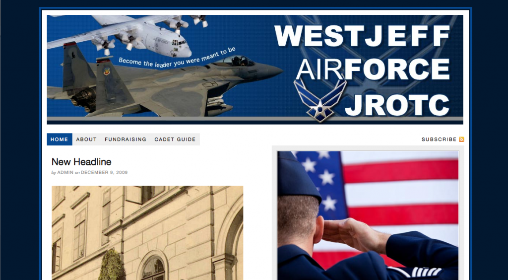 New Website for West Jeff AFJROTC